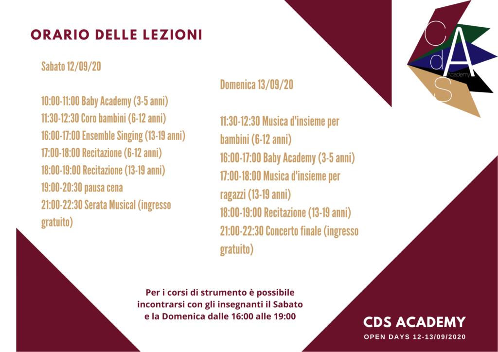 Open Days CdS Academy